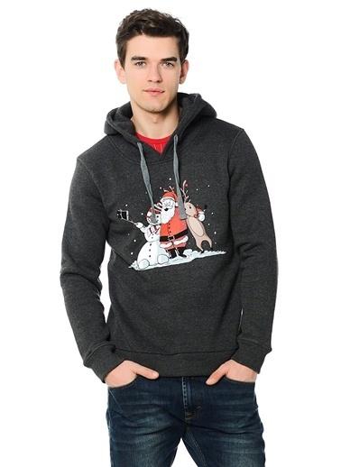 Baskılı Kapüşonlu Sweatshirt-T.easeWear Project